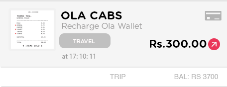 Happay Ola Cab Recharge Wallet