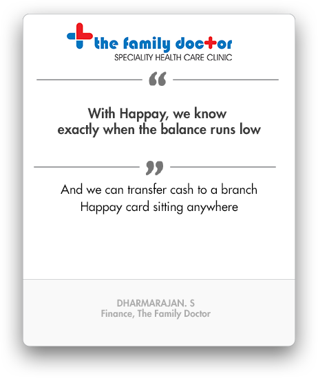 Happay The Family Doctor Testimonial, Petty Cash